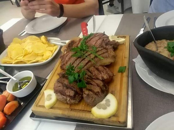 Posta de Vitela com Acorda de Cogumelos do Restaurante Santa Luzia